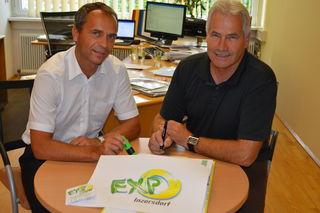 WKO-Bezirksstellenleiter Siegfried Pramhas und Vereinsobmann Otto Brandt (rechts)
