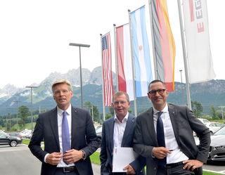 Positiv gestimmt: Gruppenleitung mit Ulrich Bühler, Walter Schiegl, Thomas Leissing.