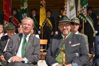 LH Dr. Wilfried Haslauer mit Obmann Herbert Schilcher
