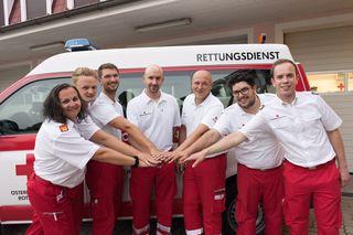 Die sieben Katastrophenmanager des Roten Kreuz Neulengbach.