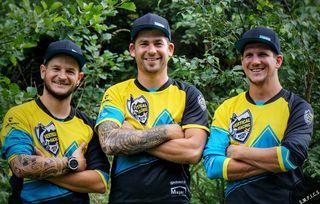 Die drei Mountainbiker: Stefan Müller, André Lesacher und Martin Walder haben ein ambitioniertes Ziel