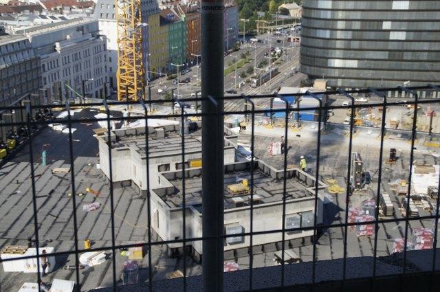 Blick auf die Baustelle.
