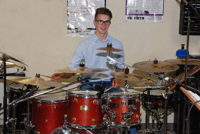 Daniel Walter an seinem Lieblingsinstrument