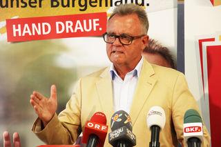 LH Hans Niessl setzt im Wahlkampf auch auf das Thema Sicherheit.