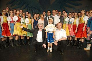 Musiksommer-Intendant Fritz Stein, Bürgermeister Christian Gepp sowie die Vizebürgermeister Helene Fuchs-Moser und Thomas Pfaffl waren vom Ensemble Lucnica begeistert.