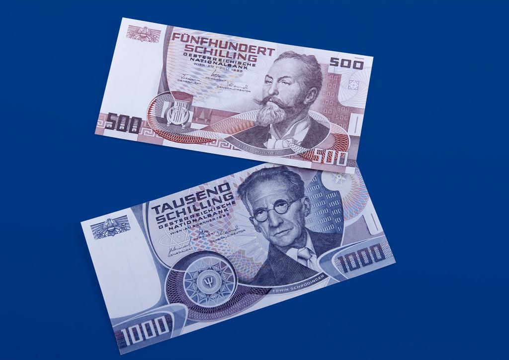 Geschätzt wird, dass noch zahlreiche 500- und 1000-Schilling Scheine im Wert von 110 Millionen Euro im Umlauf sind.