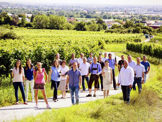 Die Winzerwanderung in Sooß führt über einen Kilometer Streckenlänge und 30 Meter Höhenunterschied, vorbei an den Labestationen der 19 teilnehmenden Winzer.