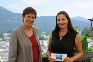 Für das Sommergespräch  mit LH-Stv. Astrid Rössler ging es auf die Stadtalm am Mönchsberg. TV-Beitrag auf www.rts-salzburg.at