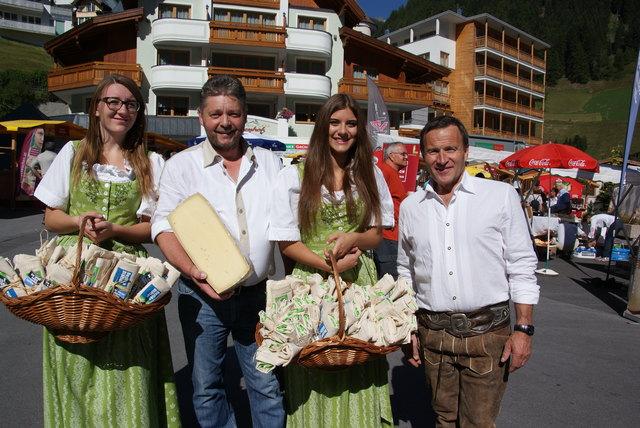 Auf Schmankerljagd in der Genussregion – Der 9. Markttag findet am 26. August in Ischgl statt.