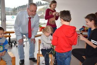 Altbürgermeister Franz Schaumüller aus Waldhausen immer im Einsatz für das Förderzentrum/Ambulatorium.