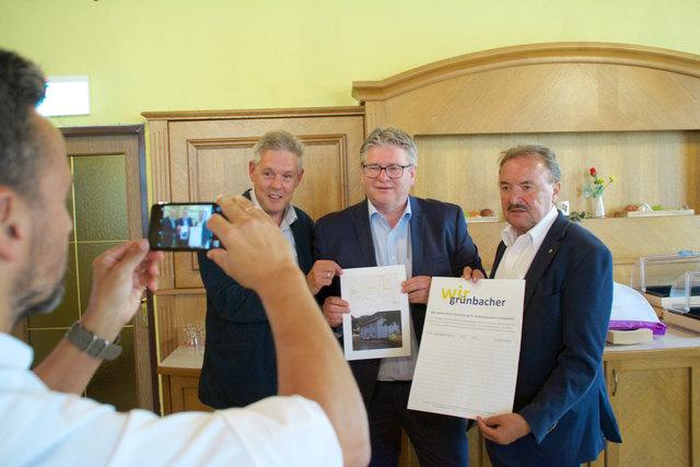 Signalisierten sofort ein klares Nein: LA Hermann Hauer, GR Rudi Gruber, NR Hans Rädler.