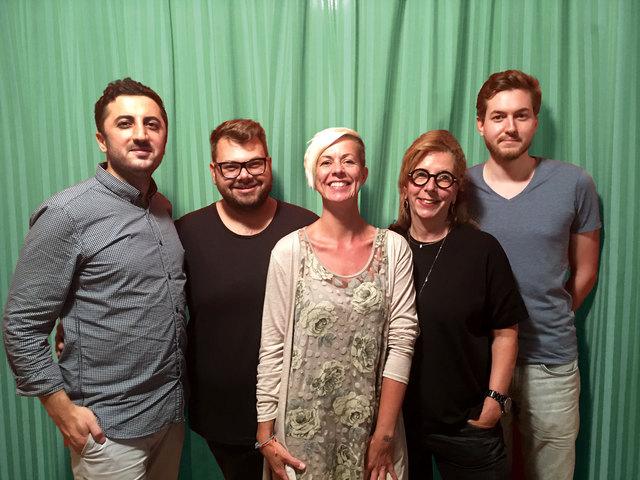 Ahmet Demir, Fabian Mayr, Jasmin Schmid, Sabine Kertess und Valentin Moreau.