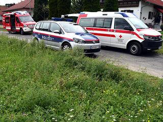 Feuerwehr, Polizei und Rettung waren im Einsatz.