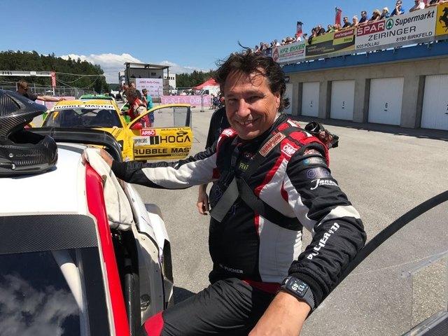 Max J. Pucher , Top-Geschäftsmann, 4-facher Vater,  leidenschaftlicher Rallycross-Fahrer (Auto mit 600 PS), amtierender Staatsmeister