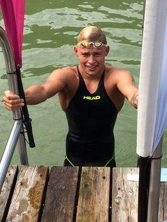Marco Sonntag bei den Österreichischen Meisterschaften im Open Water am Hechtsee bei Kufstein 13.8.2017