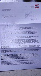 Kompliziertes Schreiben: Laut Brief der Gemeinden verliert man sein Wahlrecht. Aber nur für diesen Sprengel.
