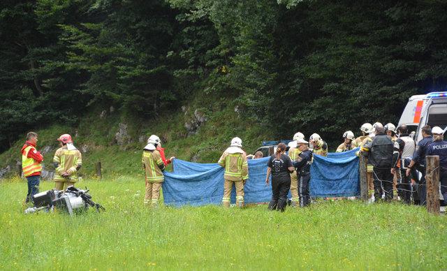 Tödlicher Motorrad-Unfall in Kirchdorf.