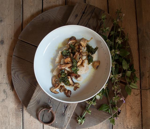 Gnocchi mit Brotpilz und Muskateller-Salbei-Butter