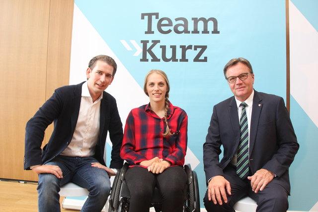 Kira Grünberg wurde bereits vor zwei Wochen als Spitzenkandidatin von Bundesobmann Sebastian Kurz und LH Günther Platter präsentiert.
