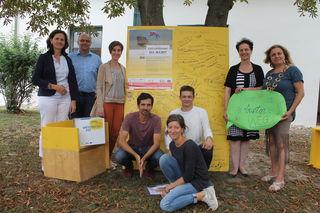 Die Bürgermeisterinnen Marianne Rickl-List und Anna Steindl blicken auf 14 Wochen Künstlerische Leerstandsnutzung im Rahmen des Viertelfestival NÖ zurück.