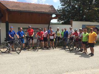 Auf Radtour durch den Pinkaboden begab sich SPÖ-Bürgerliste unter Günter Kroboth (2.v.l.).