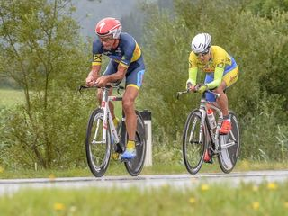 Paarzeitfahren: F. Fuchs u. R. Polak, RU St. Johann.