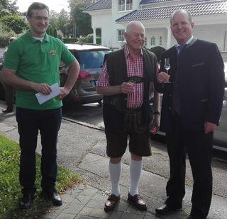 Obmann Günther Weigerstorfer, KommRat Robert Speigner, Bürgermeister Bernhard Ruf (v. l.).
