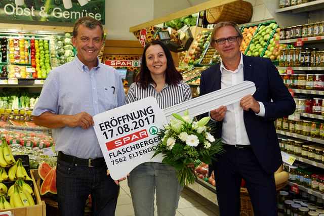Evelyn Flaschberger führt den Spar-Markt in Eltendorf als selbstständige Kauffrau.