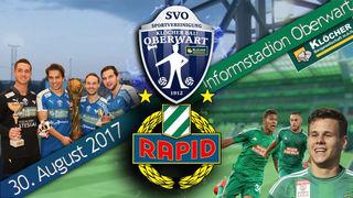 SV Oberwart gegen Rapid Wien heißt es am 30. August.