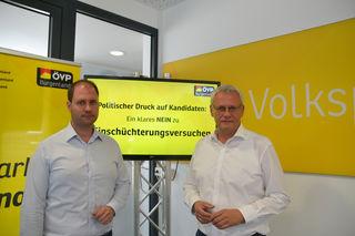 Scharfe Kritik – auch in Richtung Bundes-SPÖ – kommt ÖVP-Klubobmann Christian Sagartz und ÖVP-Landesparteiobmann Thomas Steiner