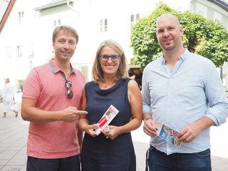 Vizebürgermeister Martin Reifecker, Nationalratsabgeordnete Bezirksvorsitzende Ulrike Königsberger-Ludwig und Gemeinderat Armin Bahr.