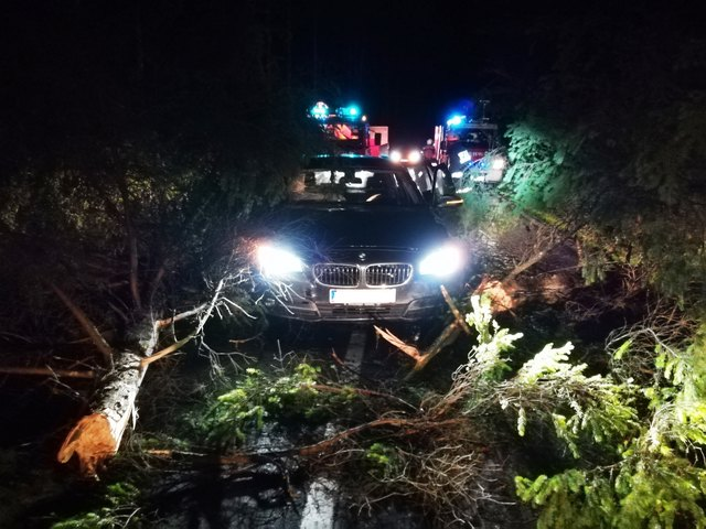 Die Insassen des verunfallten Fahrzeuges blieben weitgehend unverletzt.