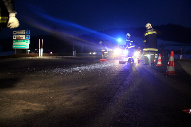 Im Februar ereignete sich erneut ein Verkehrsunfall an der besagten Kreuzung, in den zwei Pkws involviert waren.