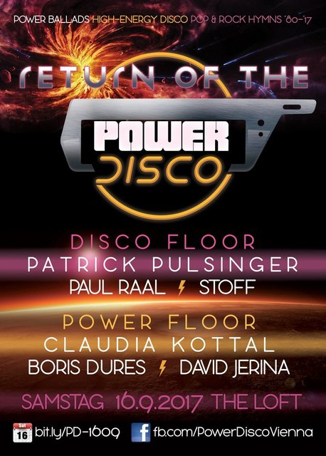 Return of the ϟ POWER DISCO - Samstag, 16. September 2017 @ The Loft