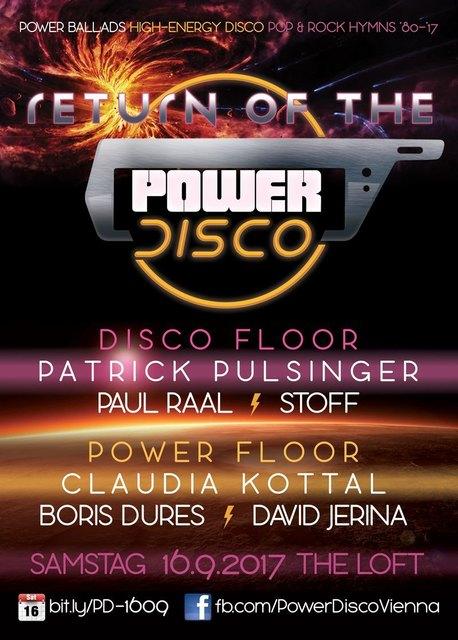 Return of the ϟ POWER DISCO - Samstag, 16. September 2017 @ The Loft