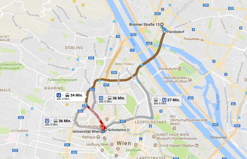 Endlich: Auch auf Google Maps gibt es Öffi-Daten für Wien - Wien