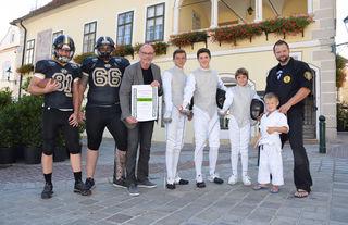 Stadtrat Robert Mayer und die Vereins-Vertreter freuen sich schon auf den Tag des Sports am 2. September.