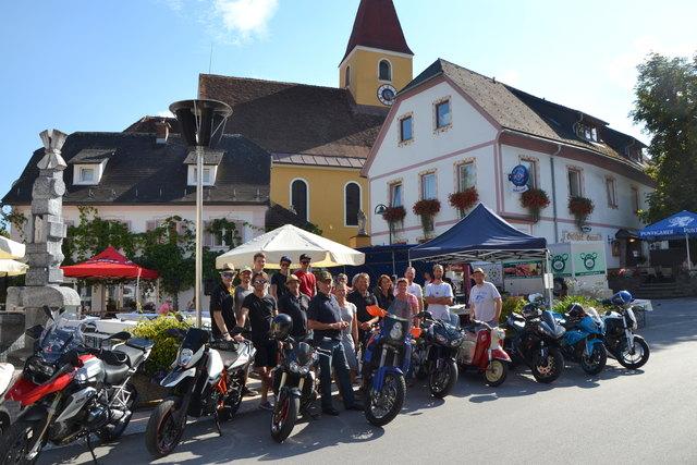 Der MRC-Styria verwandelte den Ligister Marktplatz in ein gmiatliches Ambiente.