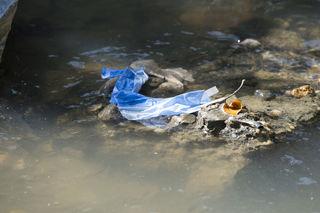 Unter anderem landen auch Toilettenpapier oder Damenhygieneartikel aufgrund des Baufehlers bei den Bauarbeiten im Kroisbach.