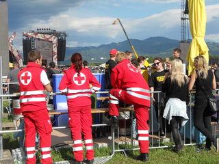 Bei AC/DC war das Rote Kreuz noch an vorderster Front. Foto: MZ/Leitner