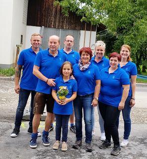 In Gersdorf: Markus Maier, LAbg. Erich Hafner, Jasmin Safner, Michael Safner, GR Ingrid Möstl, Tanja Maier, GR Anita Safner, Nicol Prem (v.l.).