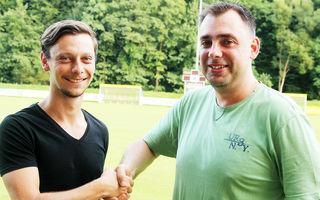Alen Kavcic (l.) ist neuer Spielertrainer in Pölfing-Brunn, Sektionsleiter Jochen Kollmann (r.) ist besorgt um den Unterhausfußball.