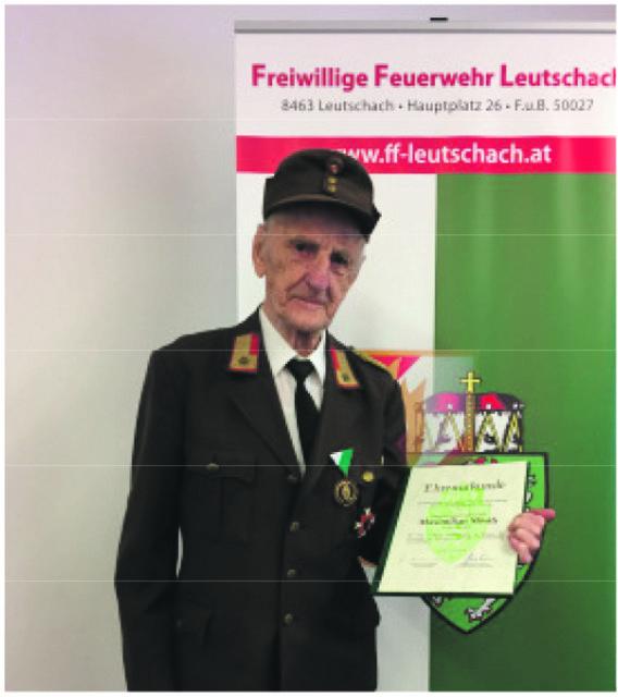 Max Mörth war 76 Jahre bei der FF Leutschach aktiv.