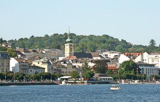 Blick auf die Stadt Gmunden