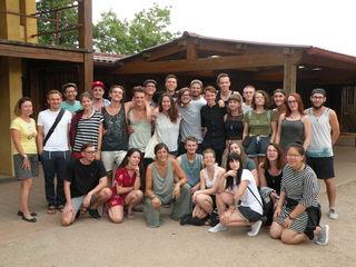 29 Jugendliche machten sich auf nach Taizé in Frankreich und besuchten dort die berühmte Versöhnungskirche