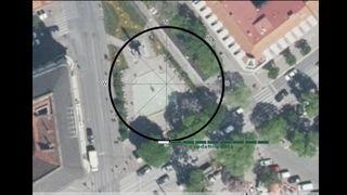 Aktueller Screenshoot von Google Earth zur Grundfläche der geplanten Tiefgarage am Eisernen Tor.