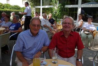 unser lieber Herr Bürgermeister Dr. H. Wallowitsch mit unserem Vizebürgermeister F. Pennauer