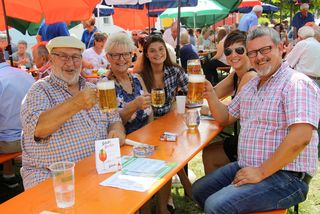 Mit guter Laune feierten die Werndorfer ihr Dorffest..