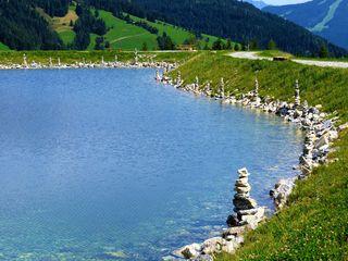 Niederberg-Speicherteich in Wagrain auf der Edelweißalm