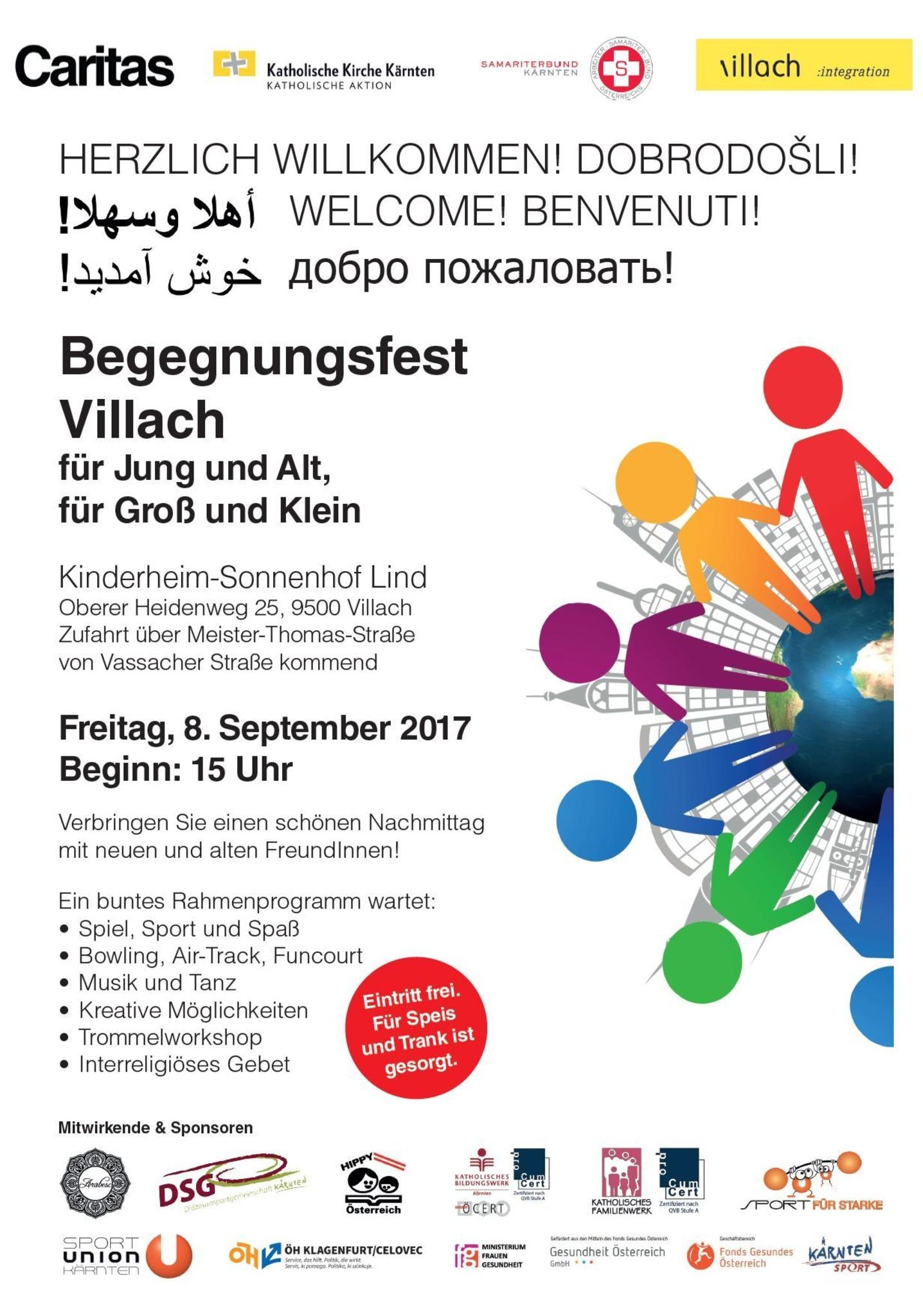Einladung Zum Begegnungsfest Villach